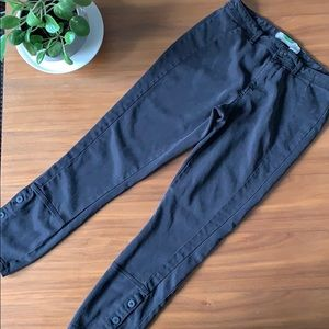 Anthropologie Black Cropped Chinos Size 28